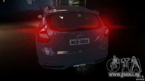 Ford Focus 3 ST pour GTA 4 Vue arrière de la gauche