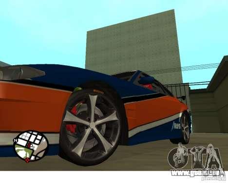 Roues du jeu Juiced 2 Pack 1 pour GTA San Andreas deuxième écran