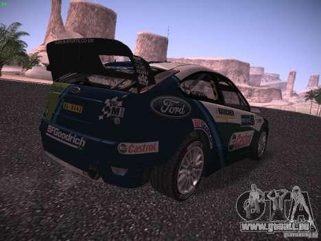 Ford Focus RS WRC 2006 pour GTA San Andreas sur la vue arrière gauche