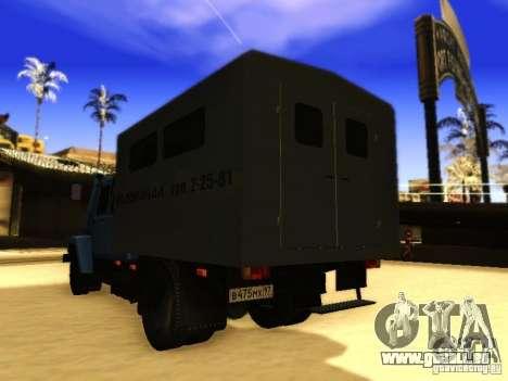 3309 GAZ double rangée pour GTA San Andreas vue intérieure