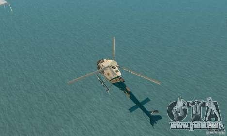 AS350 Ecureuil pour GTA San Andreas vue arrière