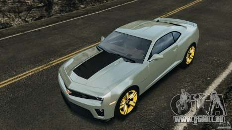 Chevrolet Camaro ZL1 2012 v1.2 pour le moteur de GTA 4