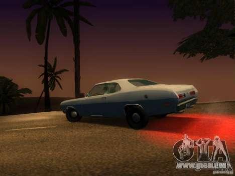 Plymouth Duster 1972 pour GTA San Andreas vue arrière