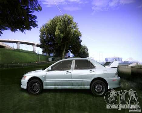 Mitsubishi Lancer Evolution VIII MR für GTA San Andreas zurück linke Ansicht
