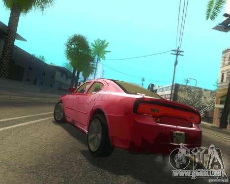 Dodge Charger 2011 pour GTA San Andreas vue arrière