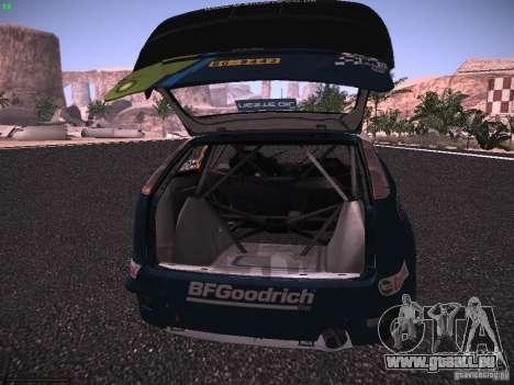 Ford Focus RS WRC 2006 pour GTA San Andreas vue de dessus