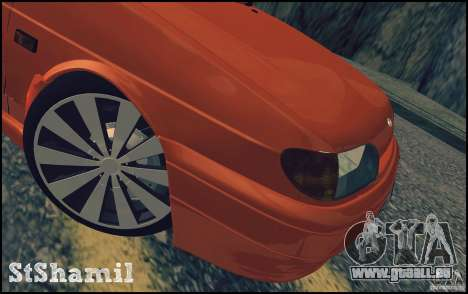 Ваз 2114 saftige Orange für GTA San Andreas Seitenansicht