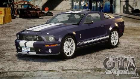 Shelby GT500KR 2008 pour GTA 4 Vue arrière