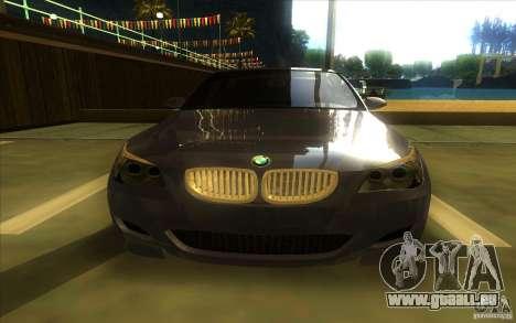 BMW M5 pour GTA San Andreas vue intérieure