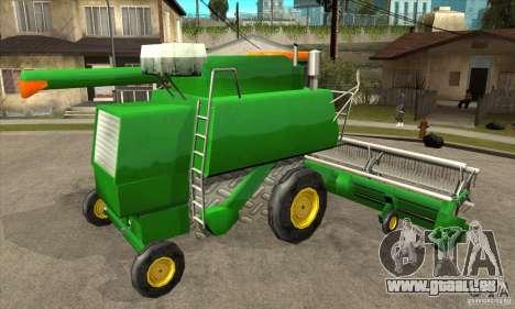 Combine Harvester Retextured pour GTA San Andreas vue de droite