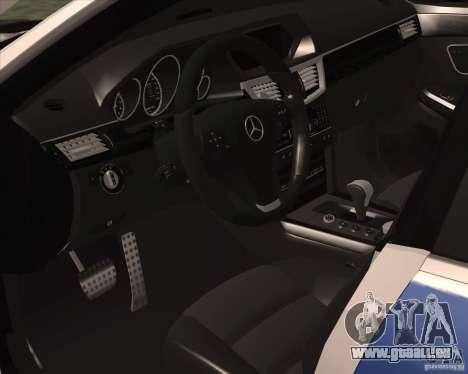 Mercedes-Benz E63 AMG W212 pour GTA San Andreas vue arrière