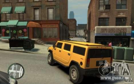 Hummer H2 pour GTA 4 Vue arrière de la gauche