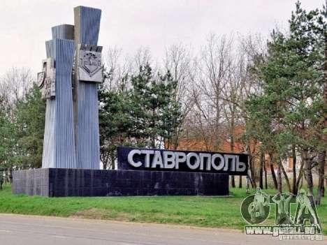 Écran de démarrage de la ville de Stavropol pour GTA San Andreas