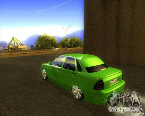LADA priora voiture tuning pour GTA San Andreas laissé vue