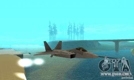 YF-22 Grey pour GTA San Andreas vue intérieure