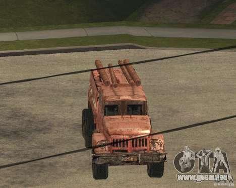 ZIL 131 für GTA San Andreas Innenansicht