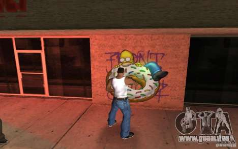 Homer Graffiti Mod für GTA San Andreas zweiten Screenshot