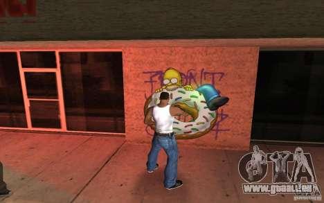 Homer Graffiti Mod für GTA San Andreas zweiten Screenshot