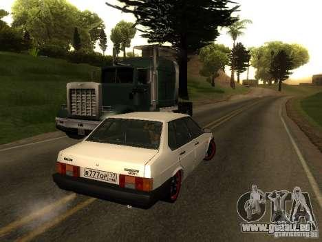 VAZ 21099 c. 2 pour GTA San Andreas sur la vue arrière gauche