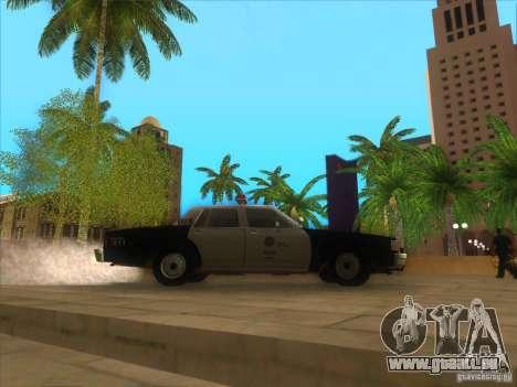 Chevrolet Caprice Interceptor LAPD 1986 pour GTA San Andreas vue arrière