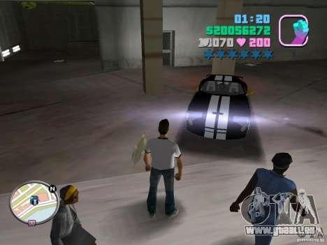 Dodge Viper Hennessy 800 für GTA Vice City linke Ansicht