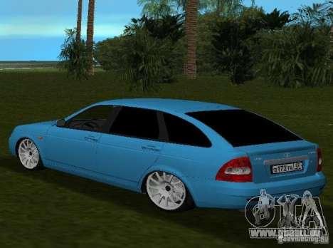 Lada Priora berline avec hayon arrière v2.0 pour GTA Vice City sur la vue arrière gauche