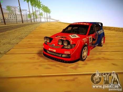 Subaru Impreza WRX STi N14 Rallycross pour GTA San Andreas sur la vue arrière gauche
