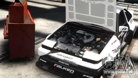 Toyota Corolla GT-S AE86 EPM pour GTA 4 Vue arrière de la gauche
