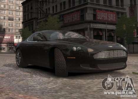 Aston Martin DB9 2008 v 1.0 pour GTA 4 vue de dessus