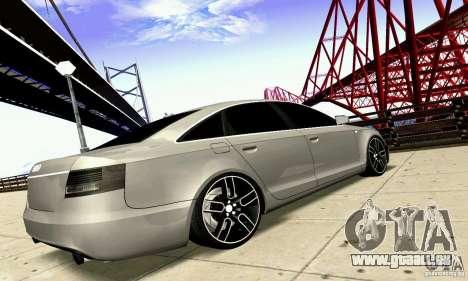 Audi A6 Blackstar pour GTA San Andreas vue intérieure