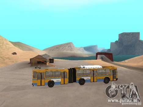 Anhänger YUMZ T1 für GTA San Andreas zurück linke Ansicht