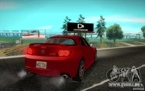 Mazda RX-8 R3 2011 für GTA San Andreas Rückansicht