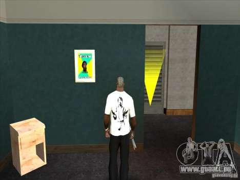 Chuck Norris t-shirt für GTA San Andreas zweiten Screenshot