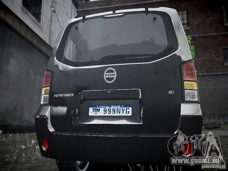 Nissan Pathfinder 2010 pour GTA 4 est un droit