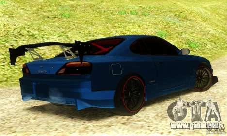 Nissan Silvia S15 Tuned pour GTA San Andreas laissé vue