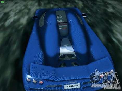 Koenigsegg CCXR Edition pour GTA San Andreas vue de droite