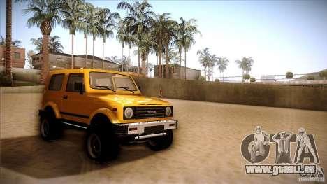 Suzuki Samurai pour GTA San Andreas sur la vue arrière gauche