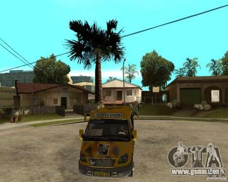 Gaz Gazelle 2705 Minibus pour GTA San Andreas vue arrière