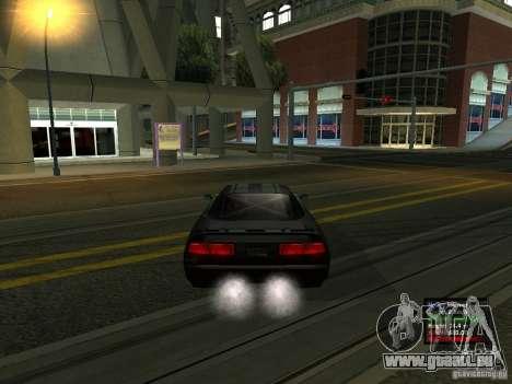 Teal Infernus pour GTA San Andreas sur la vue arrière gauche