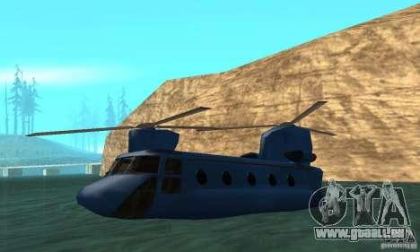 CH-47 Chinook ver 1.2 pour GTA San Andreas vue de dessus