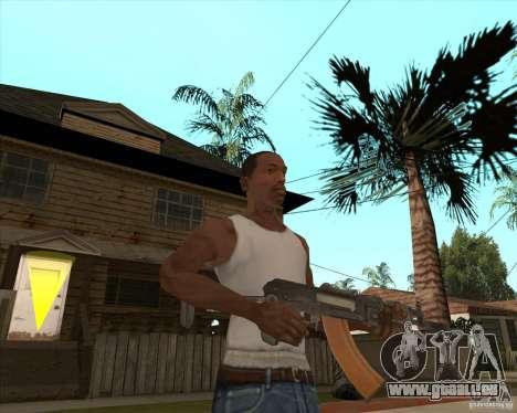 AK74U pour GTA San Andreas troisième écran