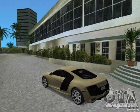 Audi R8 5.2 Fsi pour une vue GTA Vice City de la gauche