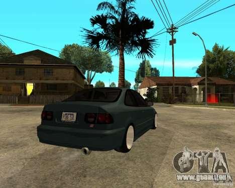 Honda Civic Coupe V-Tech für GTA San Andreas rechten Ansicht