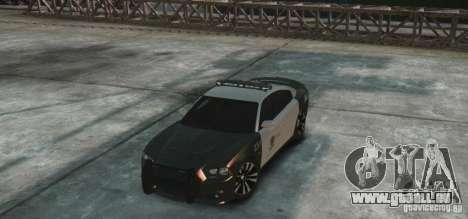 Dodge Charger 2011 Police pour GTA 4 Vue arrière