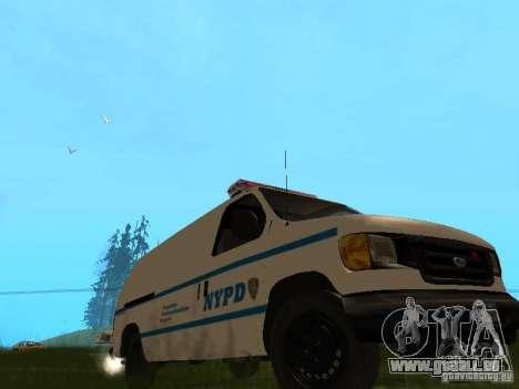 Ford E-150 NYPD Police pour GTA San Andreas laissé vue
