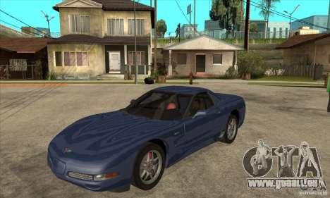 Chevrolet Corvette 5 pour GTA San Andreas vue de dessous