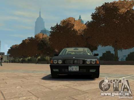 BMW 750i (E38) 1998 pour GTA 4 est une gauche