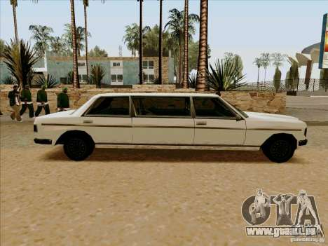 Admiral Limo pour GTA San Andreas laissé vue