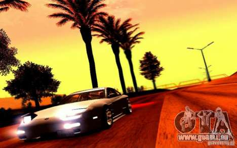 Nissan 150SX Drift für GTA San Andreas Rückansicht
