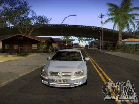 Volkswagen Phaeton W12 pour GTA San Andreas sur la vue arrière gauche